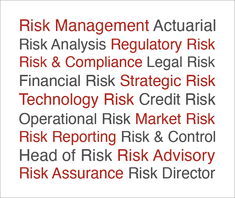Job Types advertised on CareersinRisk.com